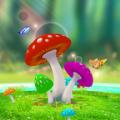 蘑菇白昼3D动态壁纸