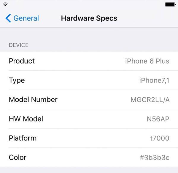 ios9越狱插件HardwareSpecs 教你如何查看iPhone6s硬件规格[多图]