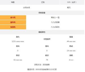 碧蓝航线瑞鹤建造时间是多少 瑞鹤属性图鉴详情图片2