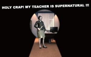 可怕的数学教师课堂恐怖逃生游戏图1
