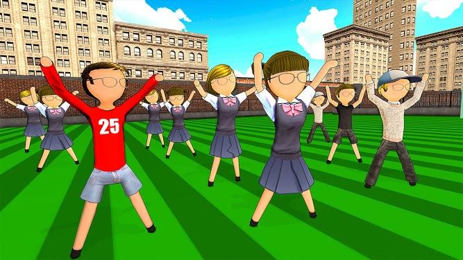 火柴人高中女生学校模拟器游戏图片1
